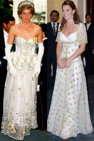 hbz-princess-diana-kate-middleton-white-and-gold-dress