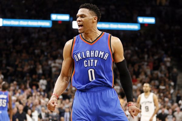USP NBA: PLAYOFFS-OKLAHOMA CITY THUNDER AT SAN ANT S BKN USA TX