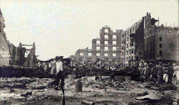 Haydarpaşa Garı 1919 1917 patlamasının hasarları4