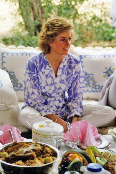 Princess Diana the Princess of Wales visits Saudi Arabia