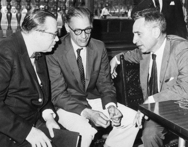 Jo Mielziner, Arthur Miller, and Elia Kazan