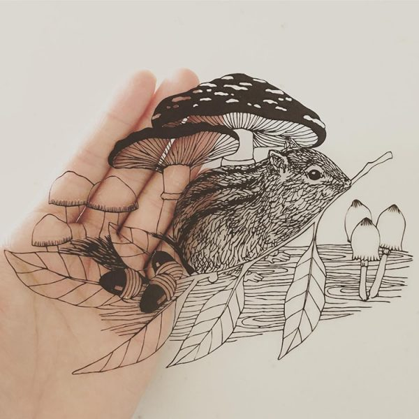 kanako-abe-kagit-illustrasyonları-1