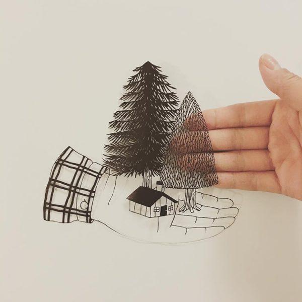 kanako-abe-kagit-illustrasyonları-11
