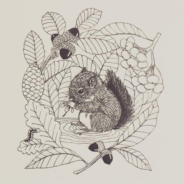 kanako-abe-kagit-illustrasyonları-4