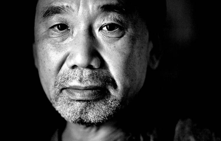 Haruki Murakami Siyah&Beyaz Görsel