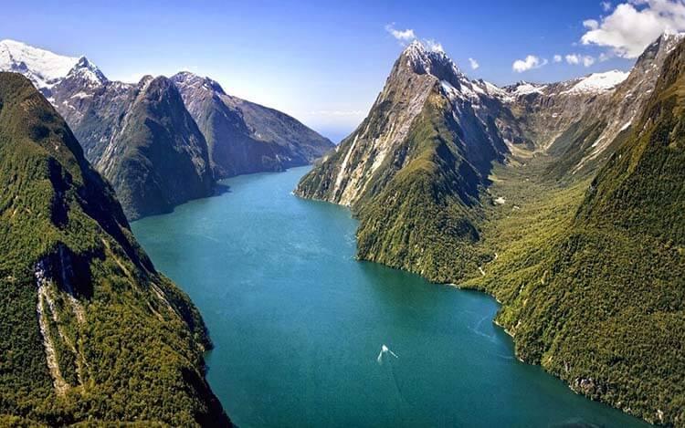 Ilıman iklimli yerler Yeni Zelanda