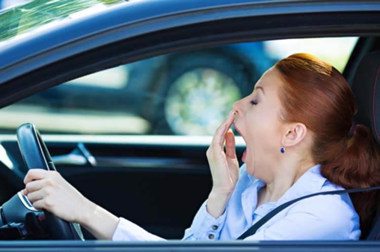 Uykusuz araba kullanma kaza gündüz