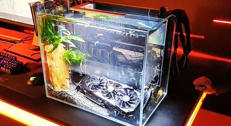 ilginç bilgisayar kasaları gigabyte fish tank