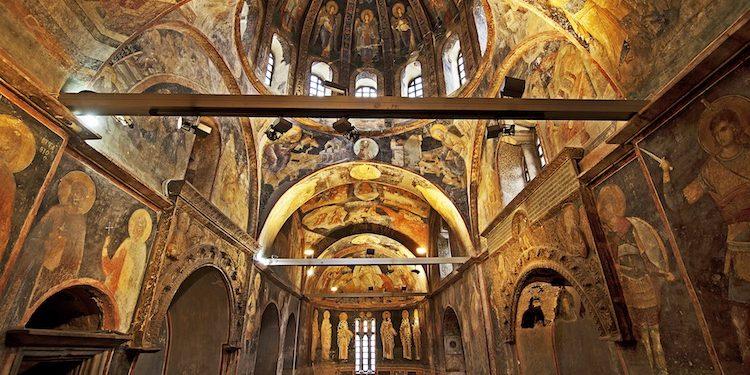 Bizans Döneminden Kalma Tarihi Yapı Kariye Müzesi