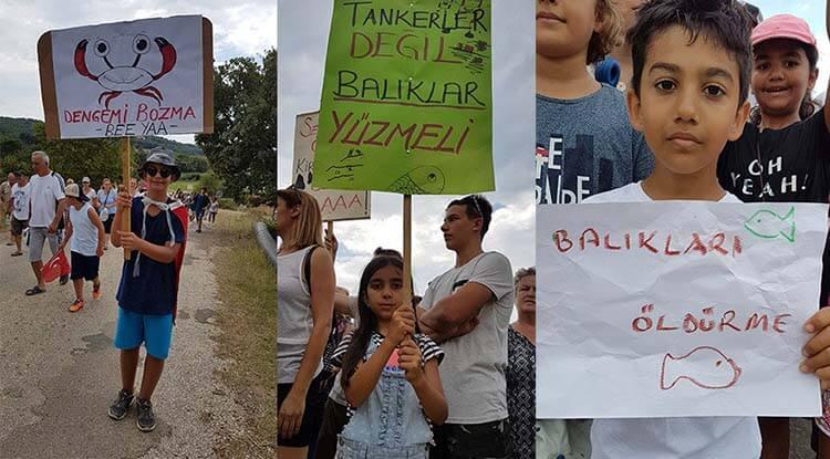 saros körfezi doğal gaz limanı protesto