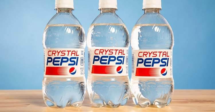 Pepsi hakkında ilginç bilgiler - Crystal Pepsi başarısız oldu