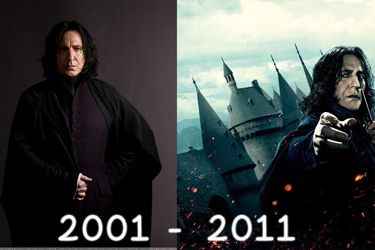 #10yearschallenge Harry Potter