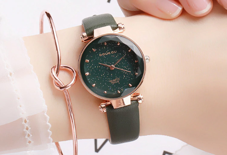 Doukou Mori Black Star Leather Lady Watch (Kadın Saati)