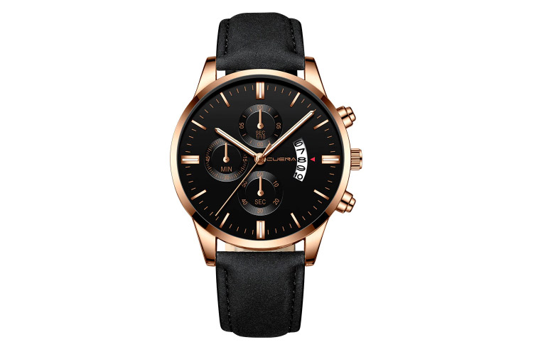 Susenstone 2019 Steel Case Leather Band Watch (Erkek Saati)