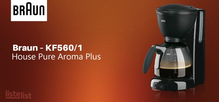 Braun – KF560/1 House Pure Aroma Plus Filtre Kahve