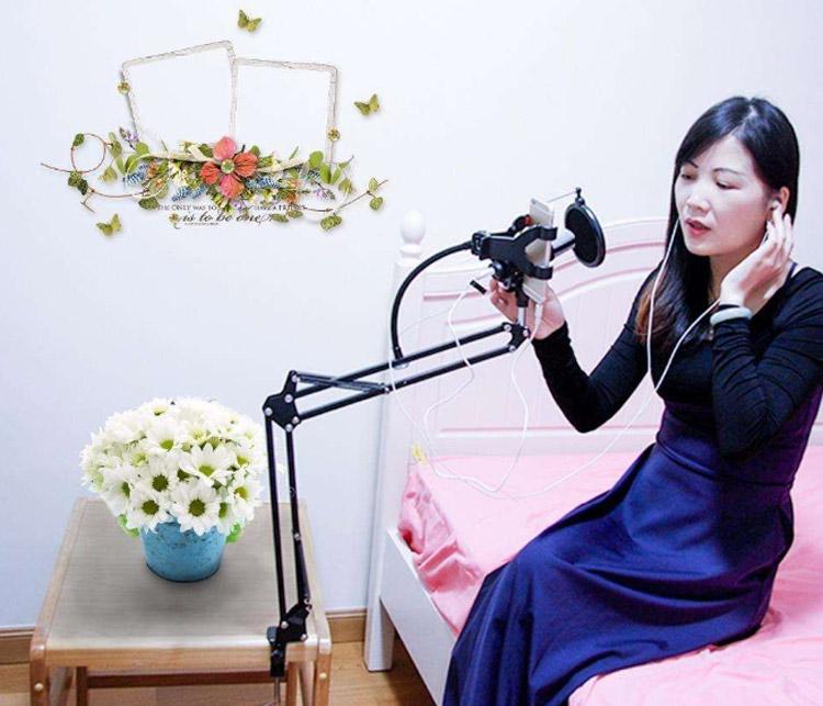 Katlanabilir Telefon ve Mikrofon Standı Yeni Başlayanlar İçin YouTuber Ekipmanları