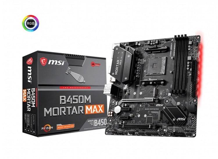 MSI B450M MORTAR MAX DDR4 3466MHz (OC) DVI-HDMI-DP-M.2-USB3.1 mATX AM4 Anakart