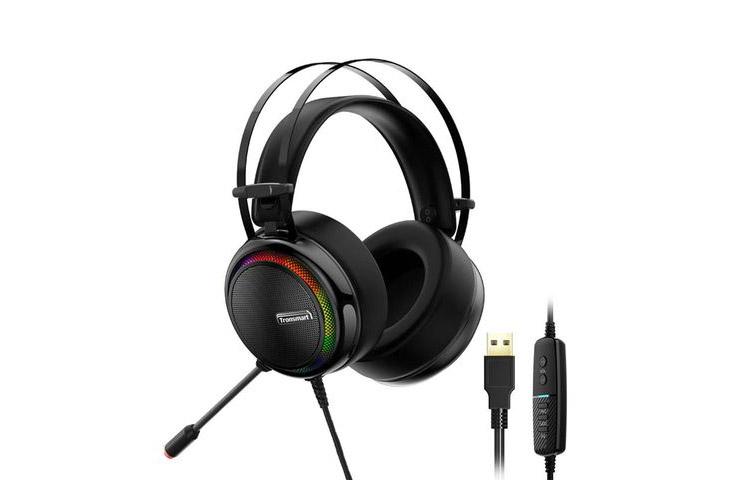 Kulaklık: Tronsmart Glary 7.1 Mikrofonlu RGB Oyuncu Kulaklığı