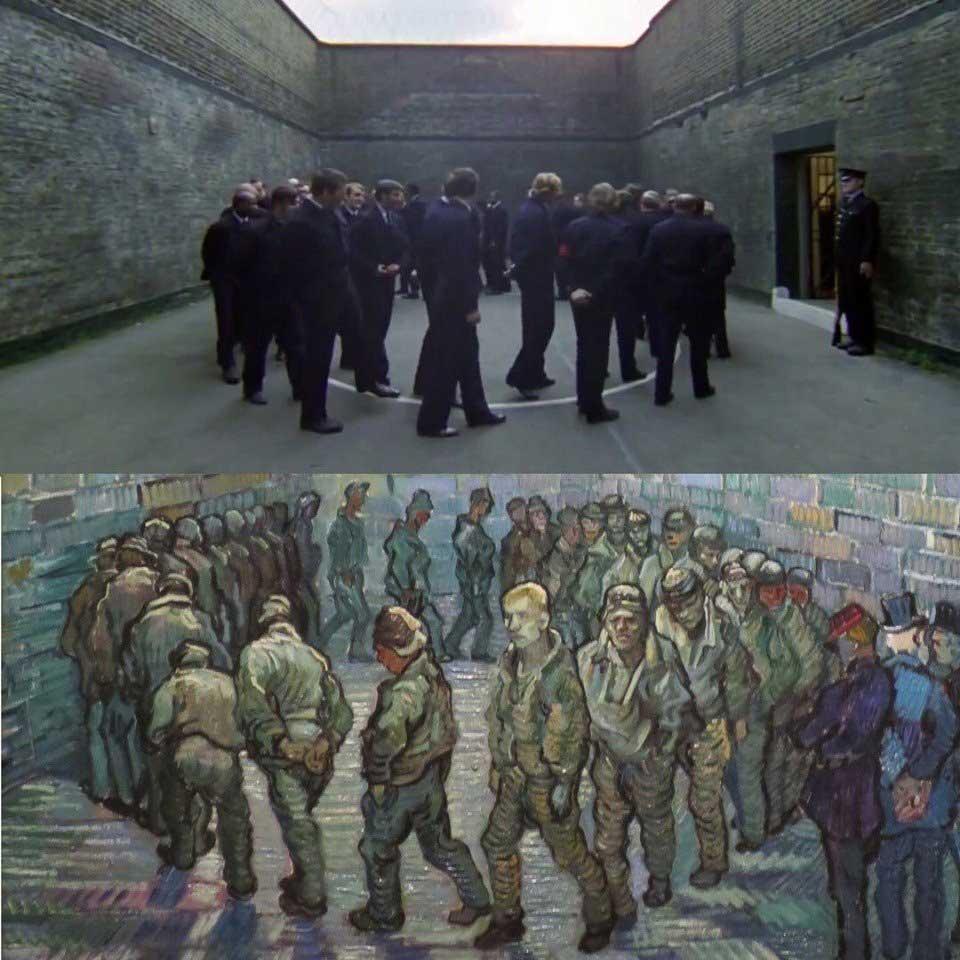 a-clockwork-orange-filmi-prisoners-exercising-resmi-tablosu