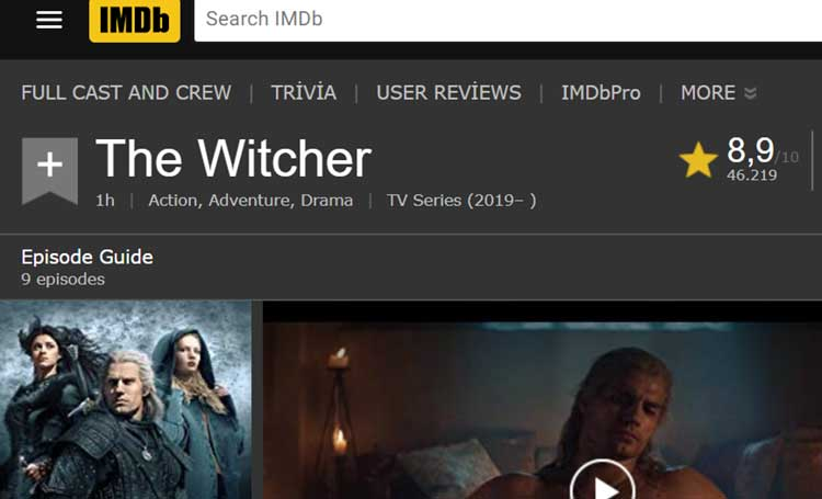 imdb puanı