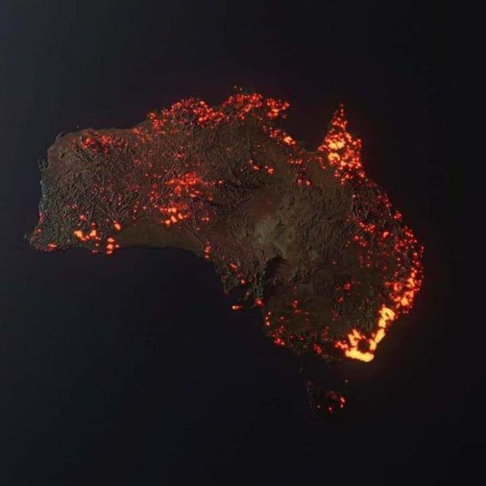 avustralya yangınları fotoğrafları