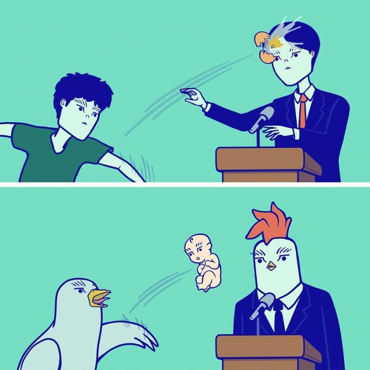 kürsü_yumurta_fırlatma_karikatür