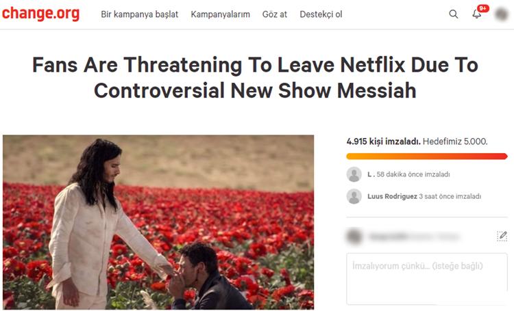 ürdün imza kampanyası netflix