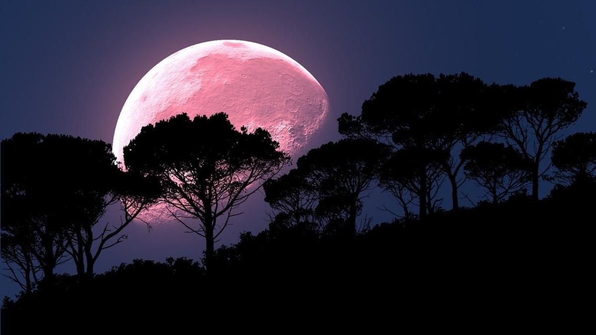 8 nisan süper pembe ay dolunay