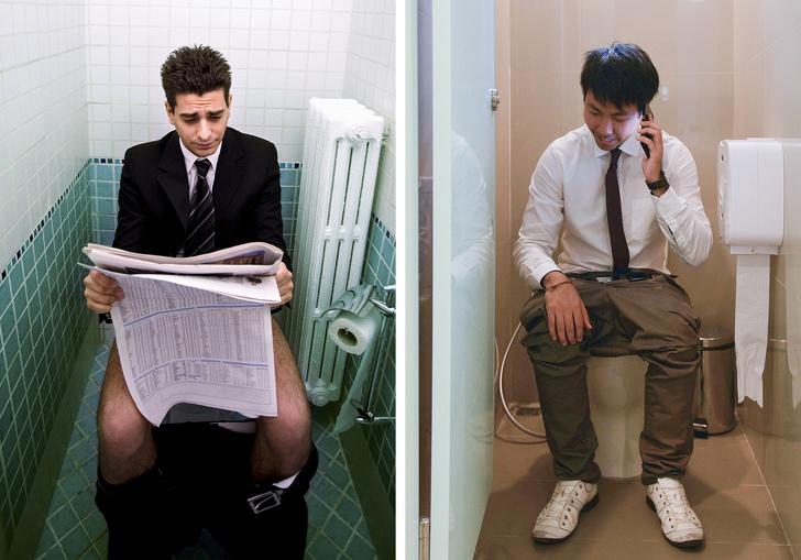 Tuvalette huzur bulan erkekler