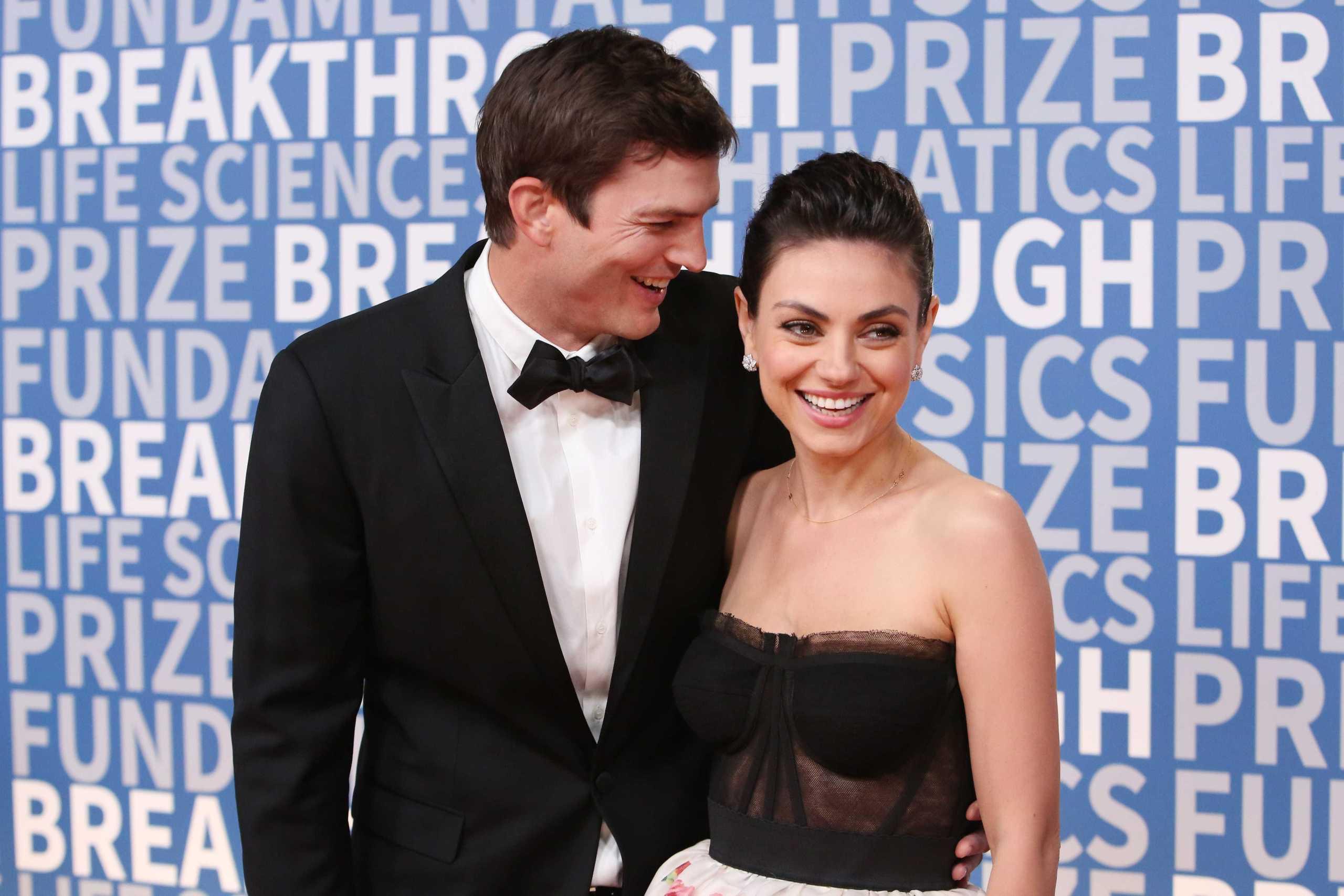 Mila Kunis ve Ashton Kutcher ödül töreni