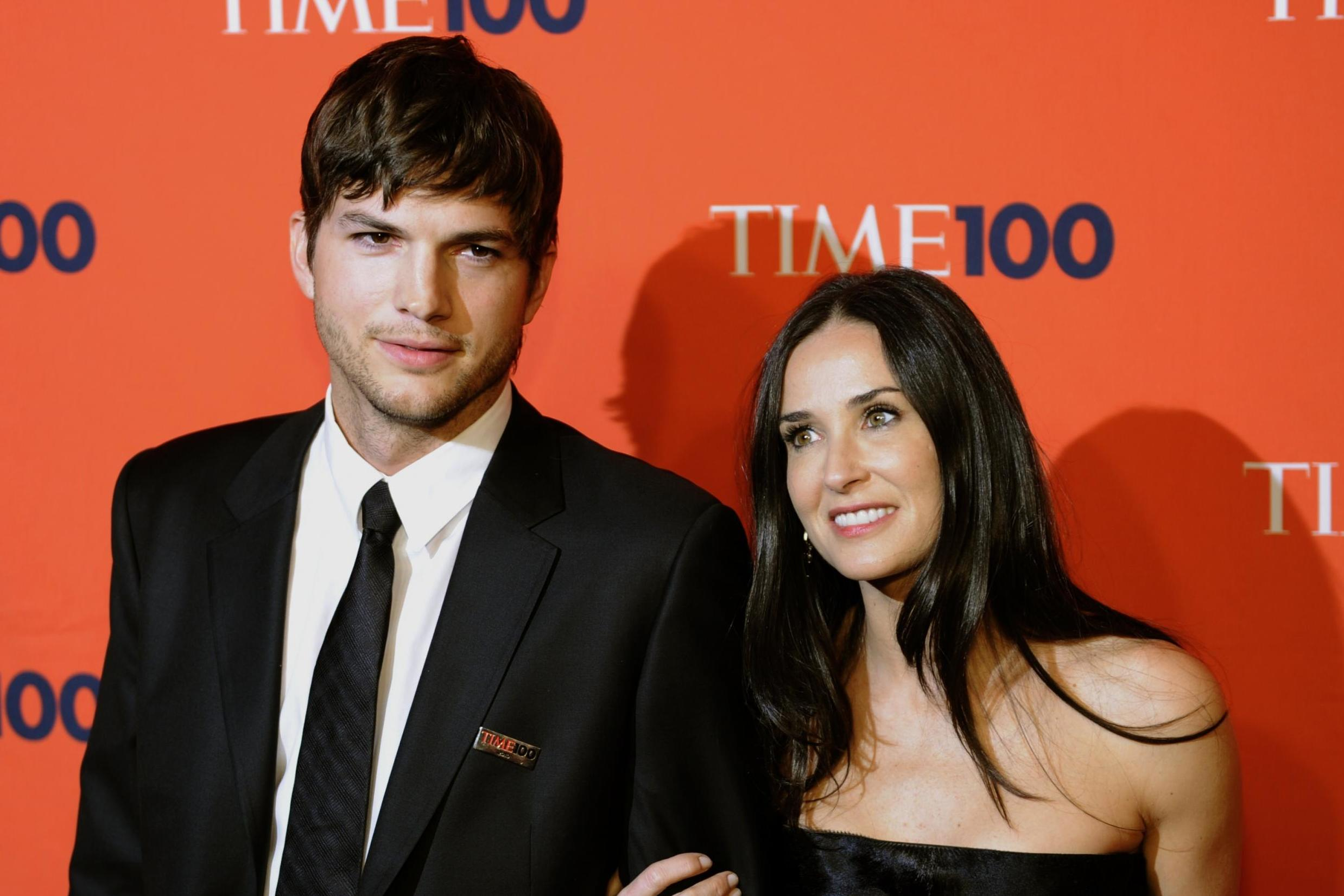 Demi Moore ve Ashton Kutcher'ın fotoğrafı