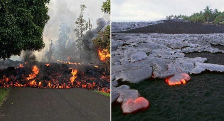 Hawaii'de patlayan yanardağ