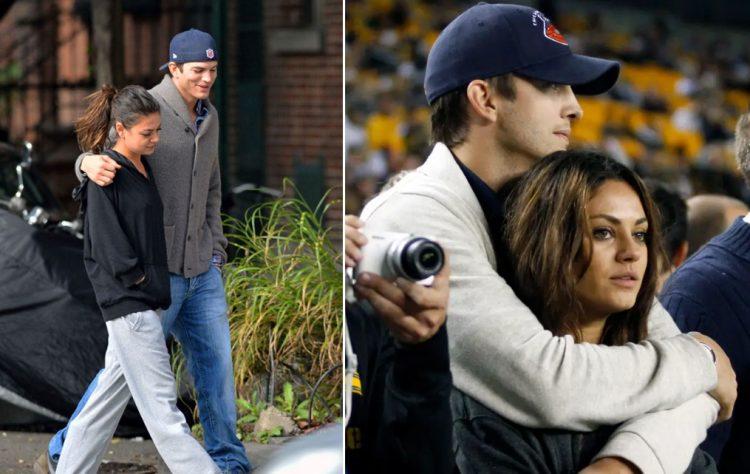 2012 yılında Mila Kunis ve Ashton Kutcher