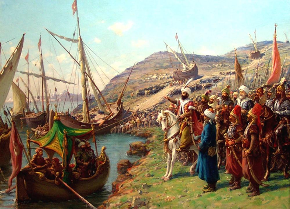 İstanbul'un fethi Gemilerin karadan yürütülmesi