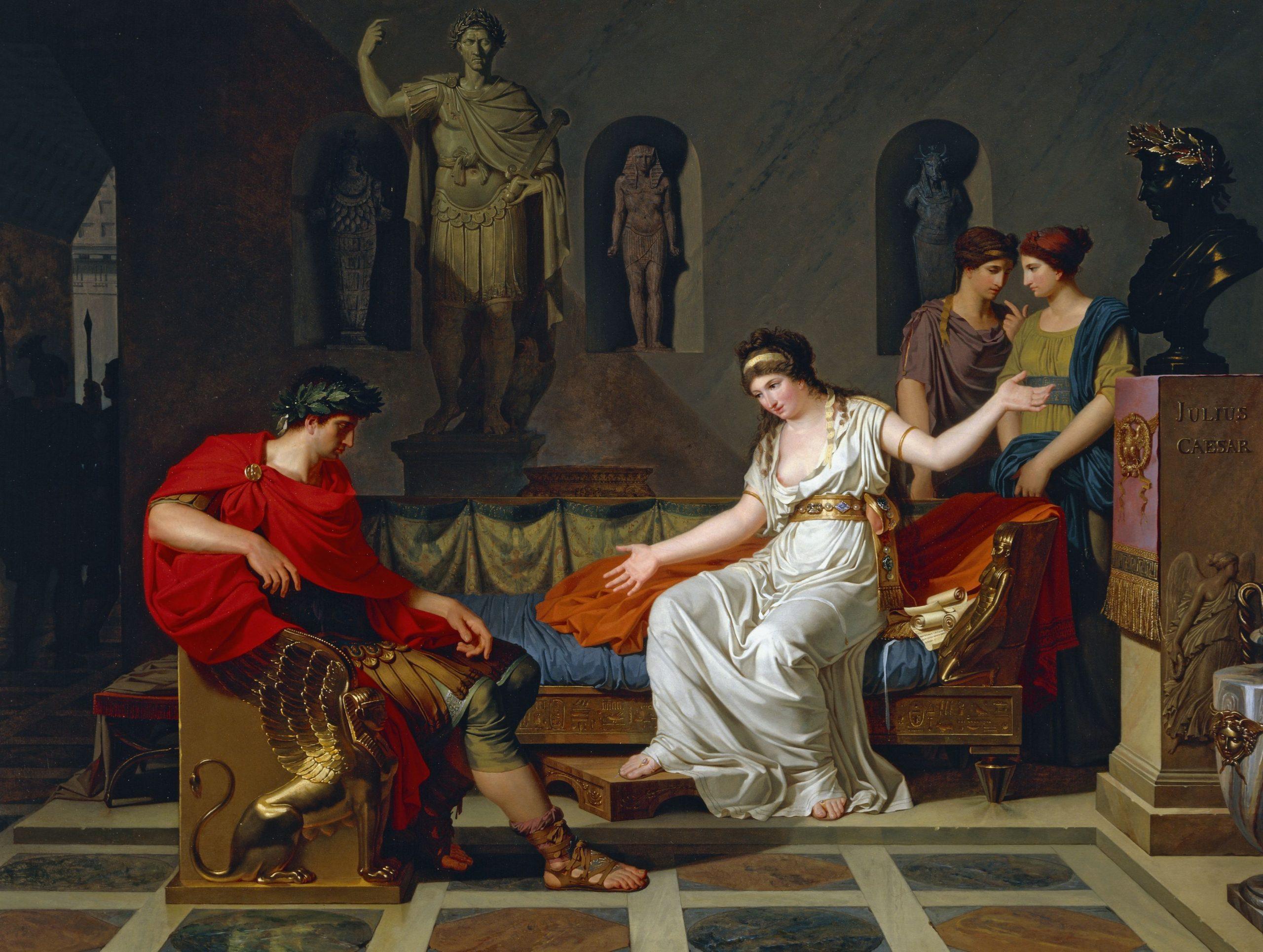 Kleopatra ve Sezar'ın tanışması