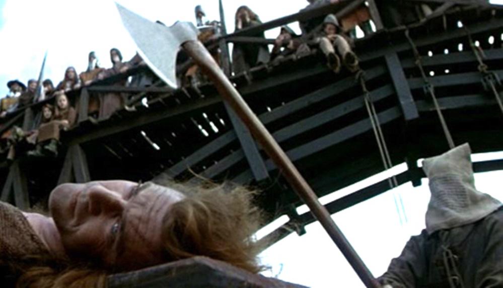Gerçekte yaşanmış film sahneleri William Wallace'ın idamı