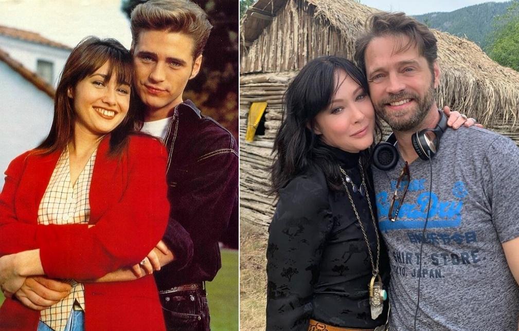 rol gereği kardeş olan çiftler Beverly Hills'te Shannen Doherty ve Jason Priestley