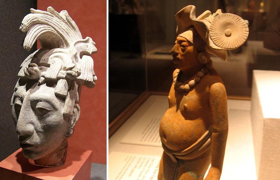 Mayalar hakkında ilginç bilgiler heykelleri