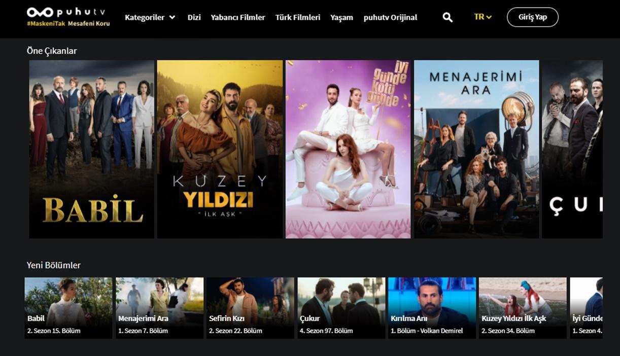 film ve dizi platformları PuhuTV
