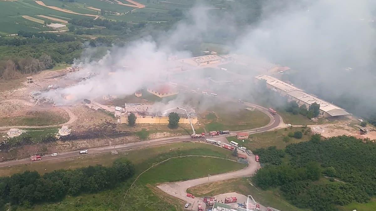 Sakarya'daki havai fişek fabrikası patlaması