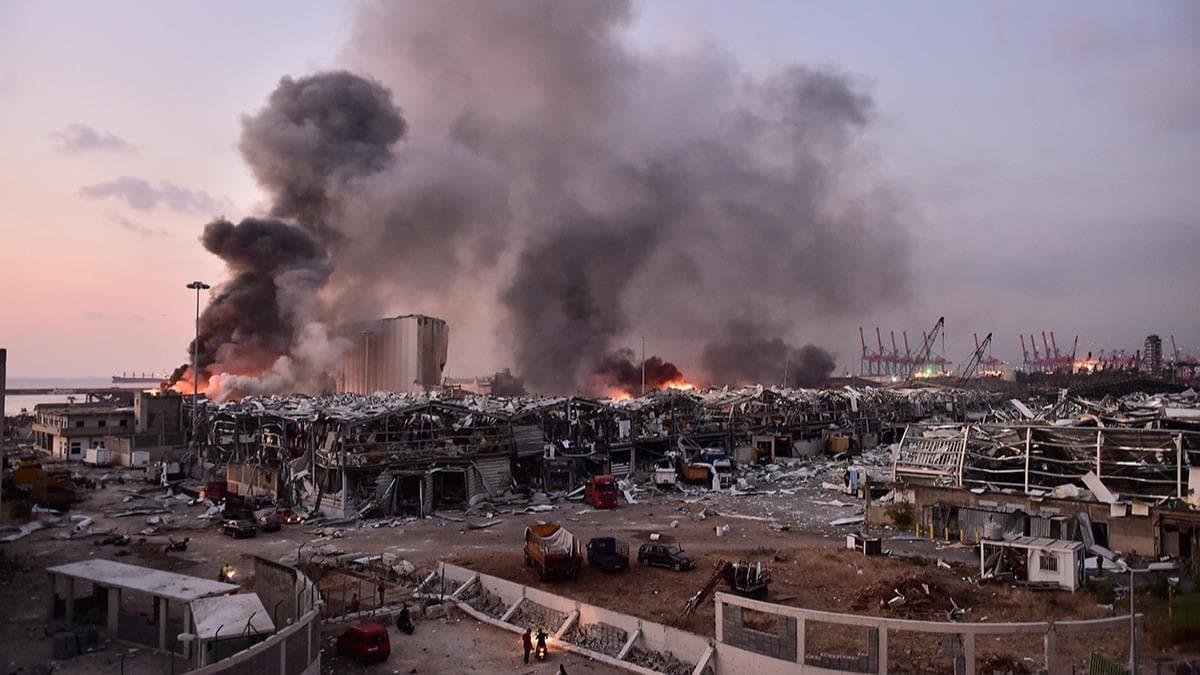 2020'de dünyada yaşanan felaketler - Beyrut Limanı