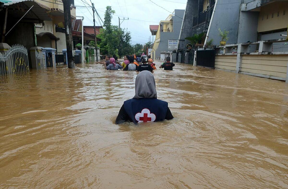 Endonezya'da yaşanan sel