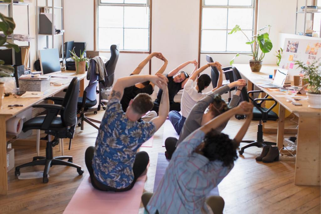 ofis yogası iş yerlerinde wellbeing uygulamaları listelist