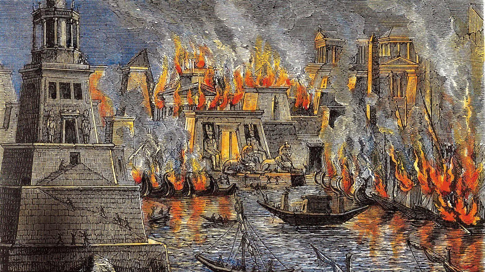 İskenderiye Kütüphanesi'nin yakılması