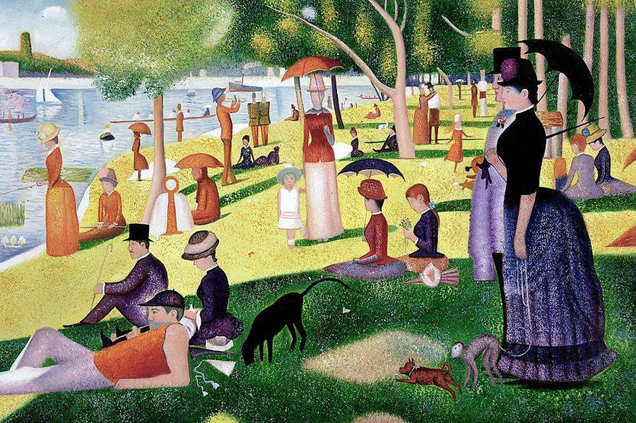 A Sunday Afternoon on the Island of La Grande Jatte La Grande Jatte Adası'nda Bir Pazar Öğleden Sonrası Georges Seurat