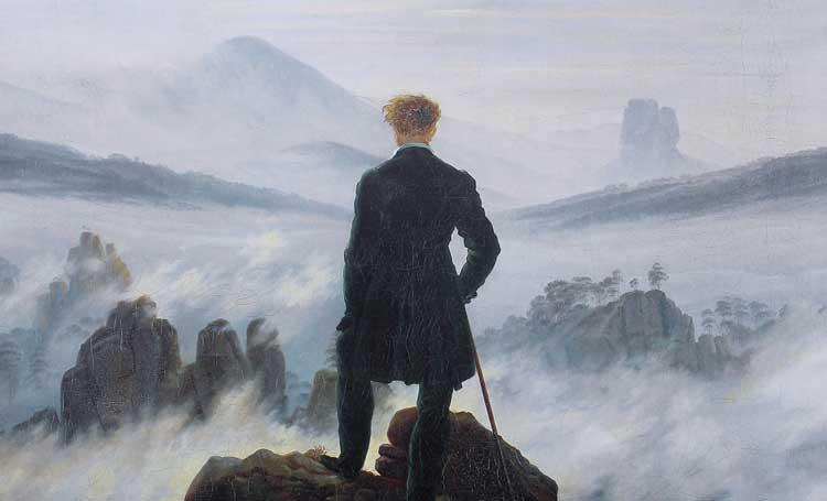 Der Wanderer über dem Nebelmeer Bulutların Üzerinde Yolculuk Sis Denizinde Amaçsızca Dolaşan Adam Caspar David Friedrich dünyanın en ünlü tabloları listelist