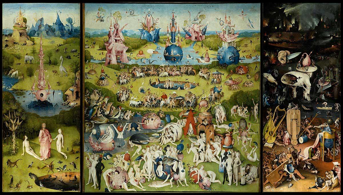 dünyanın en ünlü tabloları listelist Hieronymus Bosch the garden of earthly delights dünyevi zevkler bahçesi