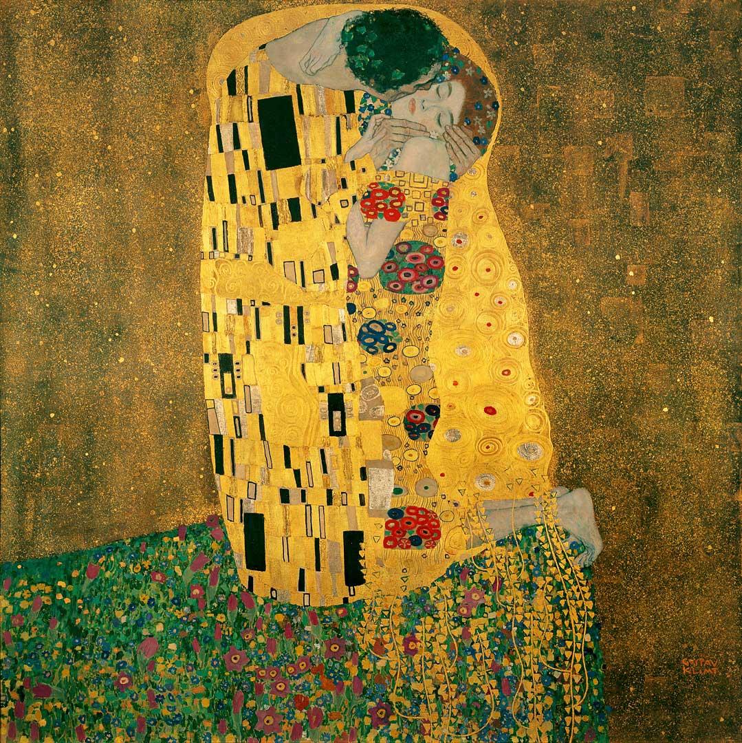 dünyanın en ünlü tabloları listelist gustav klimt the kiss öpücük