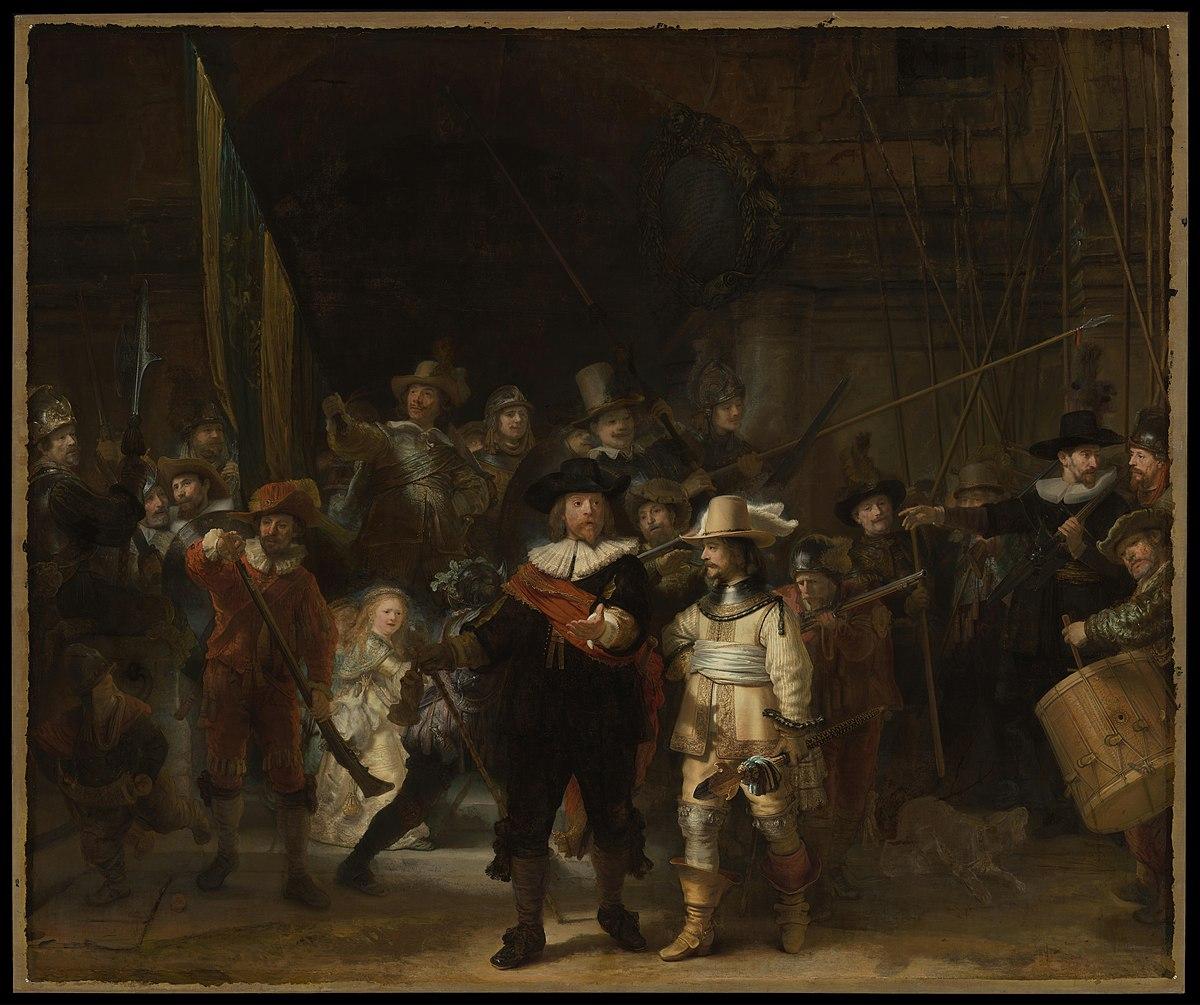 dünyanın en ünlü tabloları listelist The Night Watch gece devriyesi Rembrandt van Rijn
