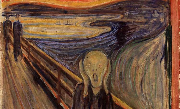 dünyanın en ünlü tabloları listelist edward munch the scream çığlık tablosu